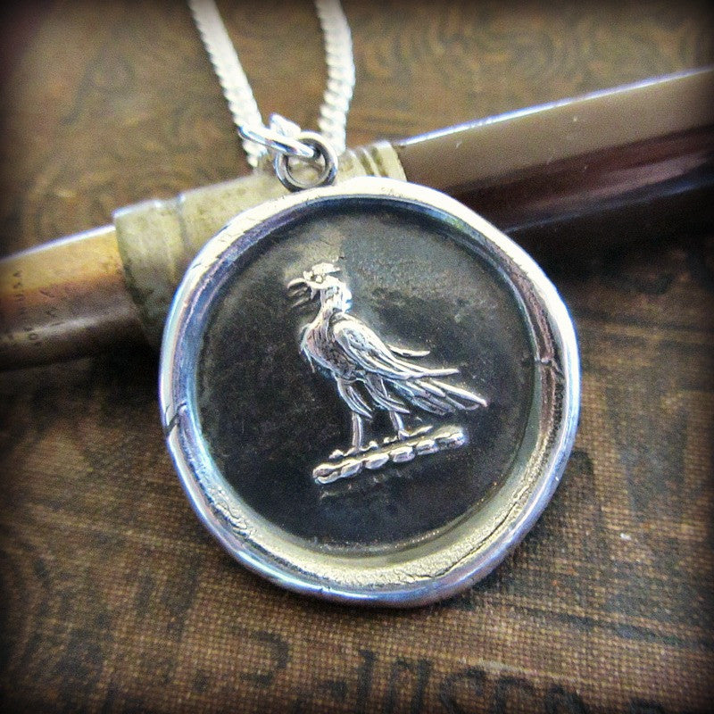 Eagle Wax Seal Medallion - Victory & Courage - Shannon Westmeyer Jewelry - 1