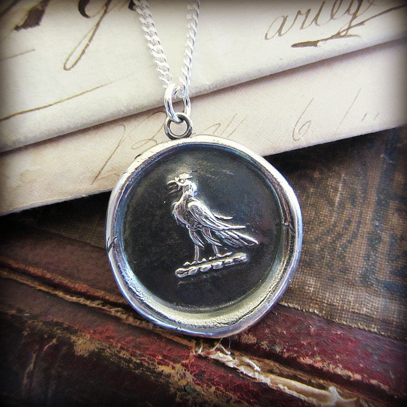 Eagle Wax Seal Medallion - Victory & Courage - Shannon Westmeyer Jewelry - 2