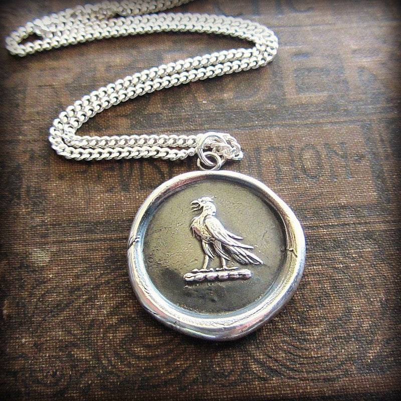 Eagle Wax Seal Medallion - Victory & Courage - Shannon Westmeyer Jewelry - 3