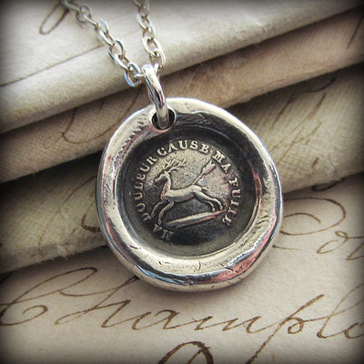 Endure - I Will Go On - French Proverb Wax Seal Necklace - Shannon Westmeyer Jewelry - 2