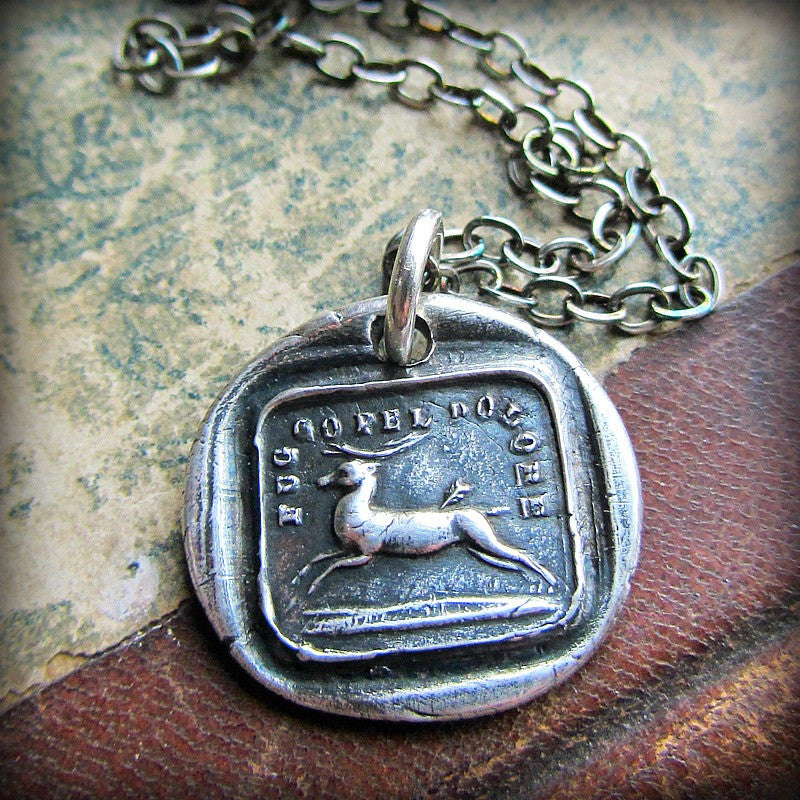 Endure Wax Seal Necklace- I Will Go On