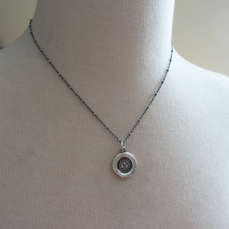 Shamrock Wax Seal Necklace - Erin Go Bragh - Shannon Westmeyer Jewelry - 3