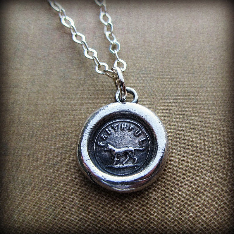 Faithful dog wax seal shannon westmeyer jewelry faithful dog wax seal forever faithful shannon westmeyer jewelry 3 mozeypictures Images