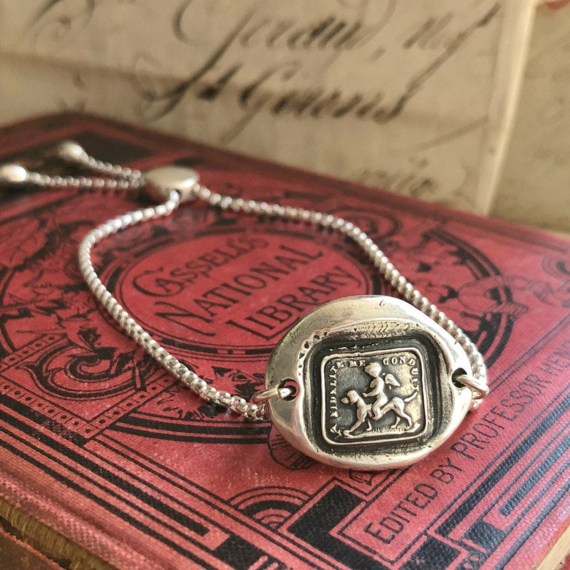 Faithfulness Guides Me - Adjustable Wax Seal Bracelet-Shannon Westmeyer Jewelry