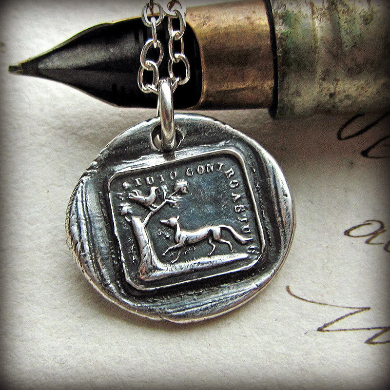 The Fox and the Rooster Aesop Fable Charm - The Truth Will Always Prevail - Shannon Westmeyer Jewelry - 4