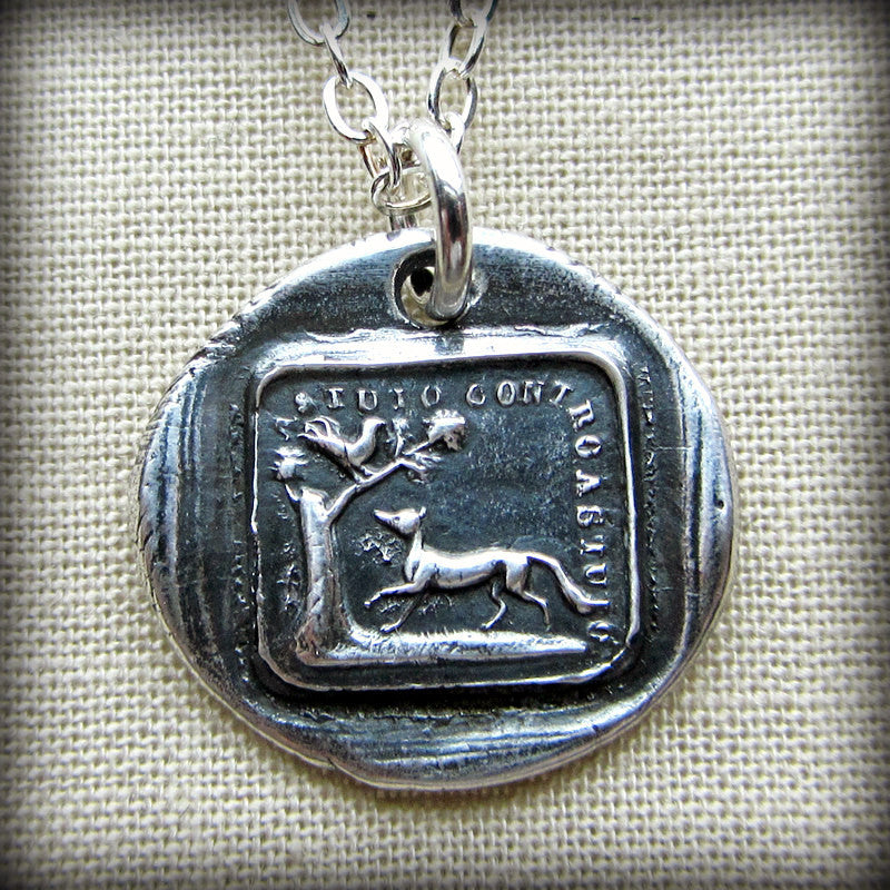 The Fox and the Rooster Aesop Fable Charm - The Truth Will Always Prevail - Shannon Westmeyer Jewelry - 2
