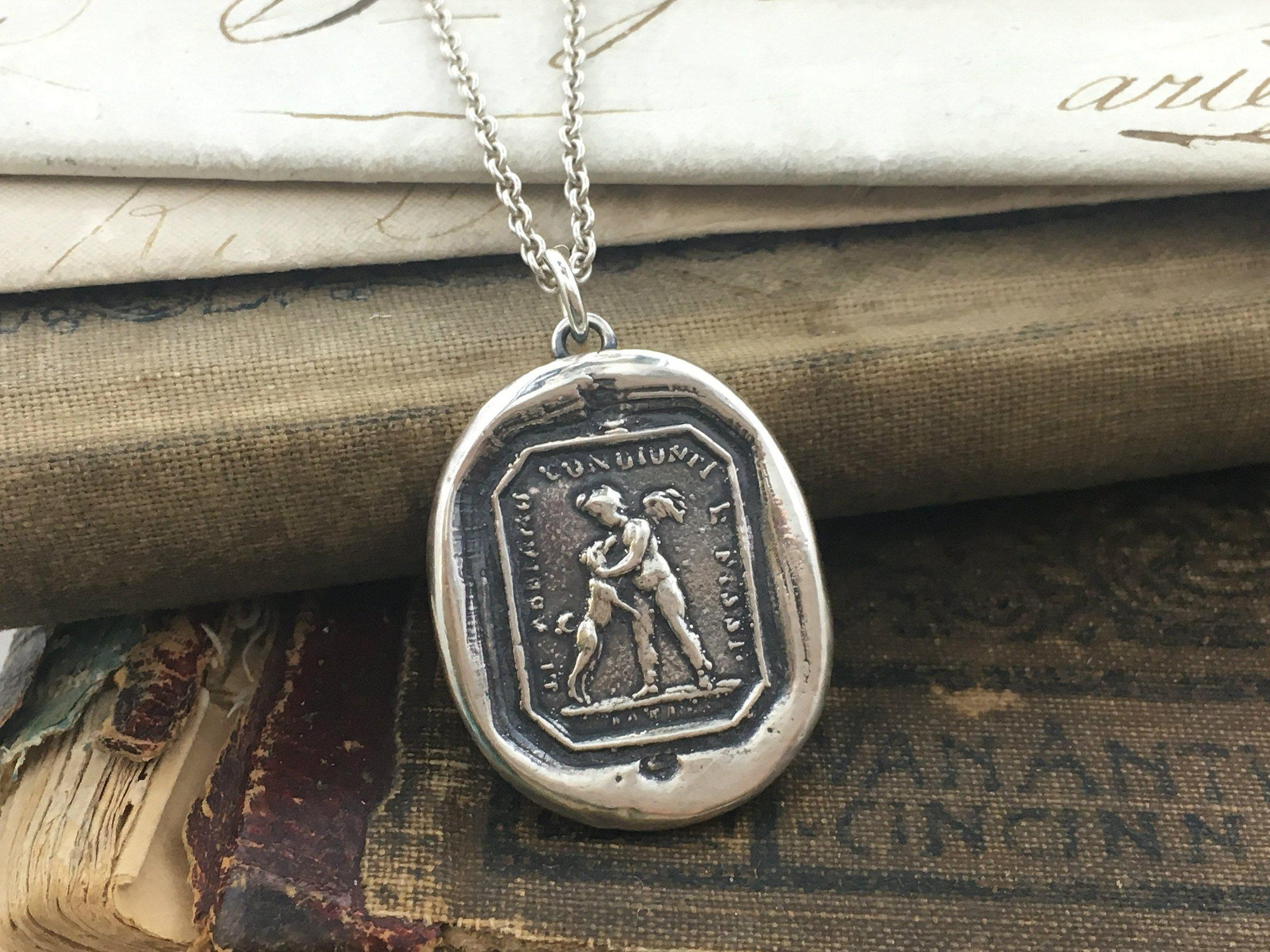 Friends for Life Wax Seal Pendant - Love & Friendship