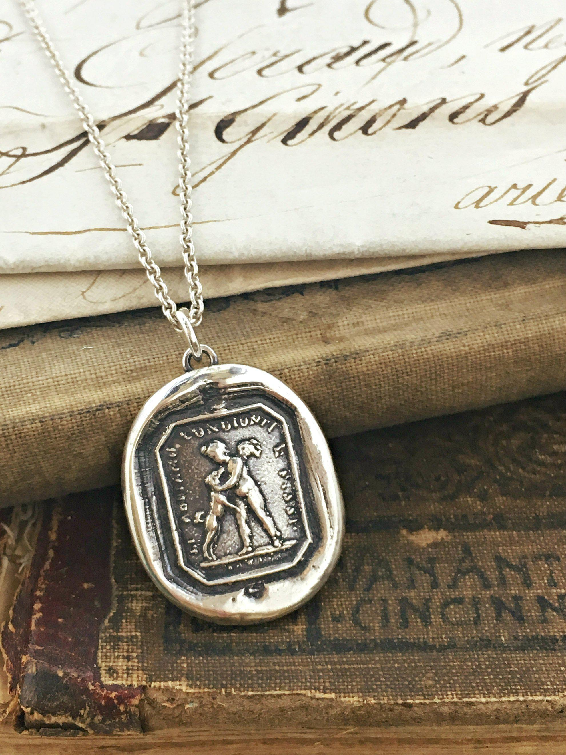 Friends for Life Wax Seal Pendant - Love & Friendship-Shannon Westmeyer Jewelry
