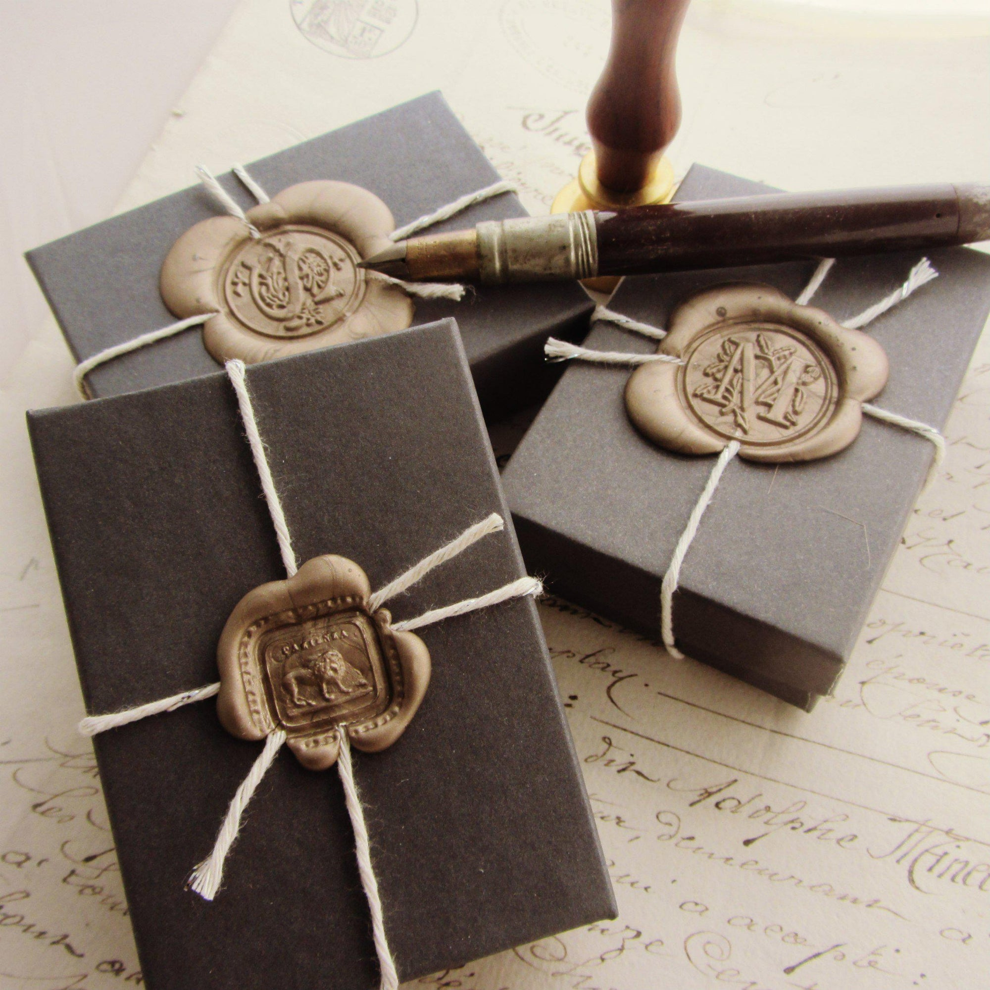 Custom Gift Wrap for Wax Seal Jewelry - Box-Shannon Westmeyer Jewelry