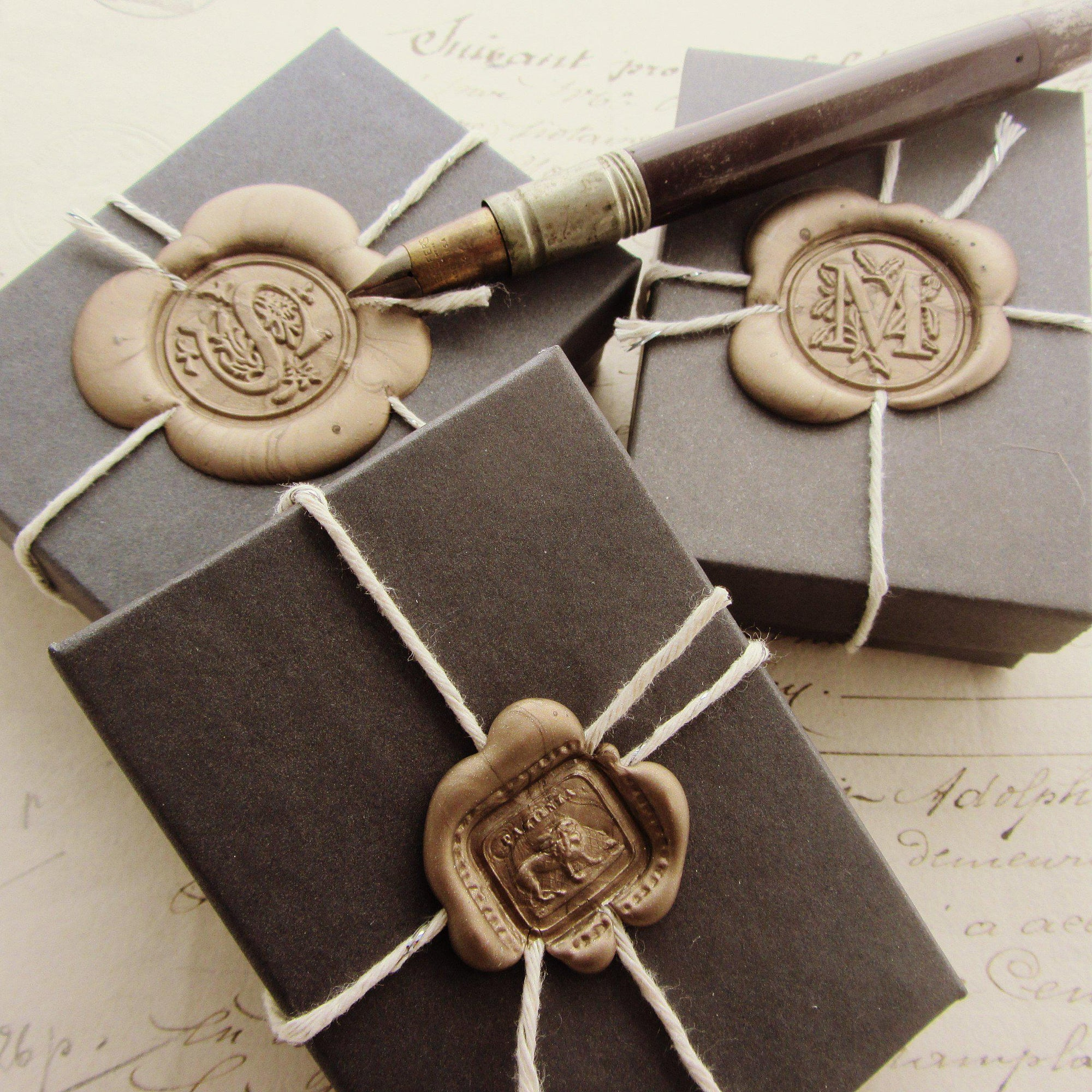Custom Gift Wrap for Wax Seal Jewelry - Box
