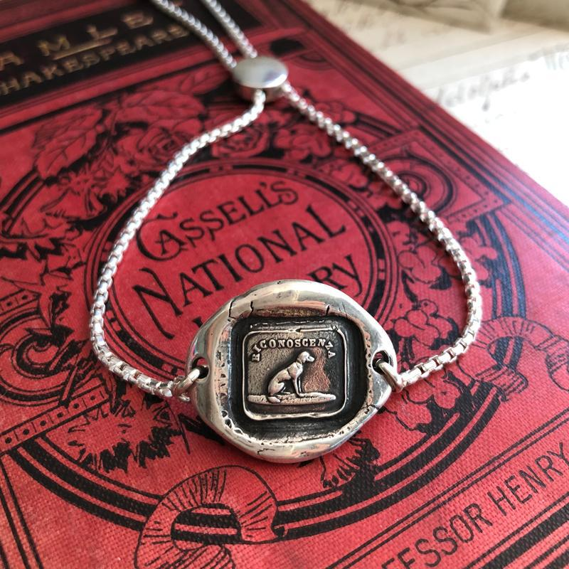 Gratitude - Adjustable Wax Seal Bracelet-Shannon Westmeyer Jewelry