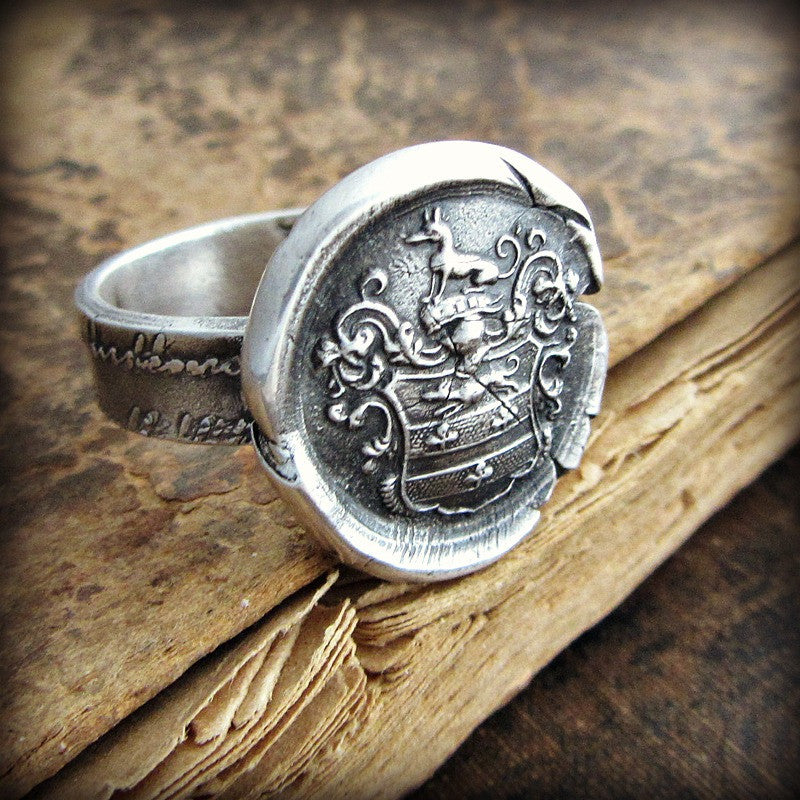 Greyhound Wax Seal Ring