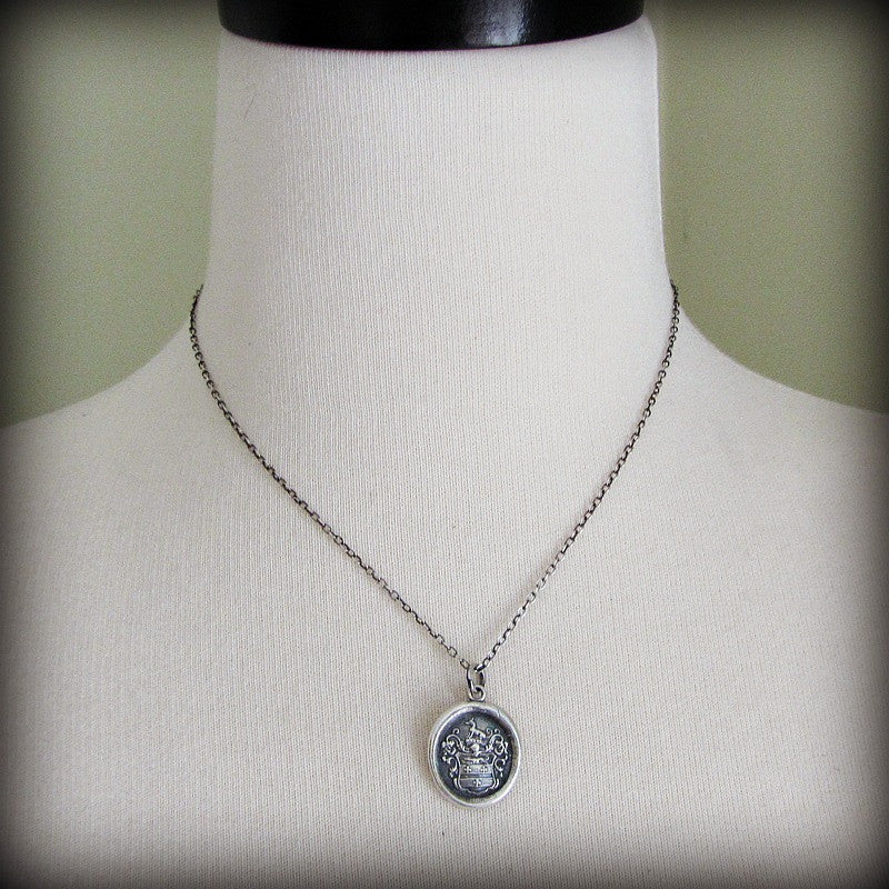 medallion silver sterling maya dogeared necklace angelou inch courage