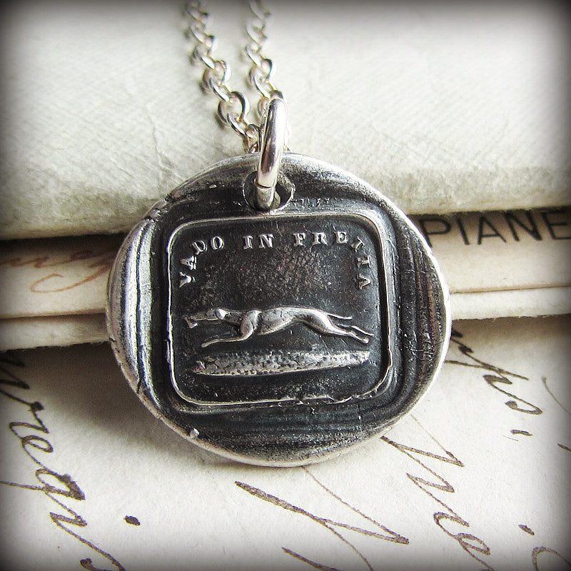Greyhound Italian Wax Seal - I Go Fast - Shannon Westmeyer Jewelry - 3