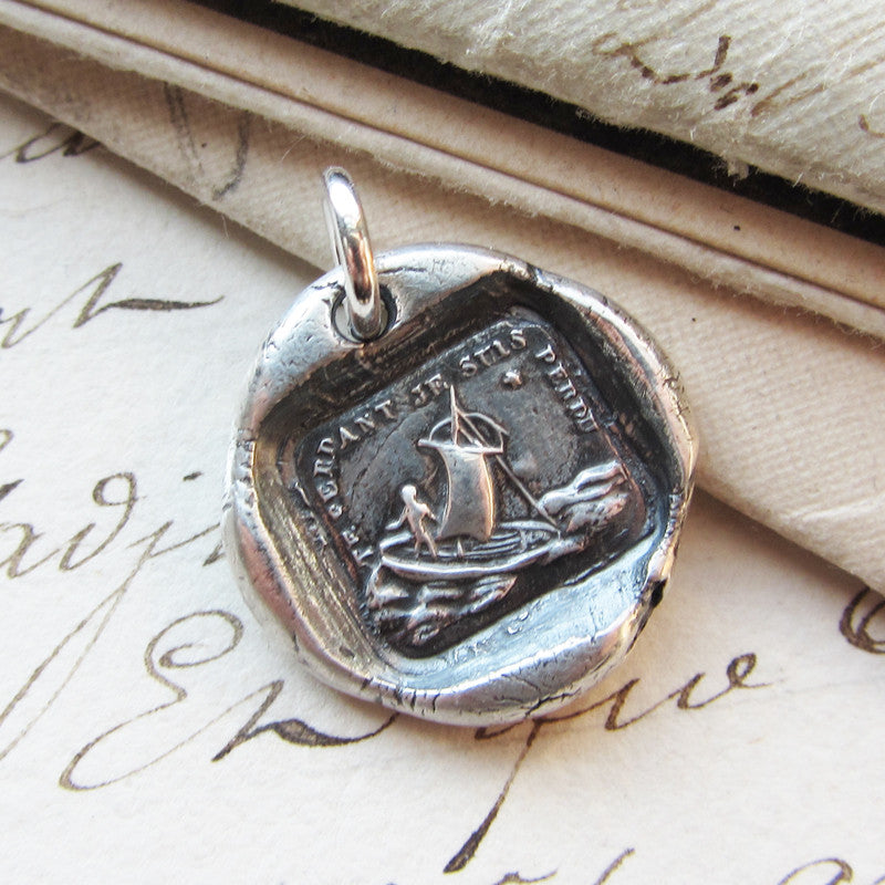If I Lose You I Am Lost - Polar North Star Wax Seal Charm