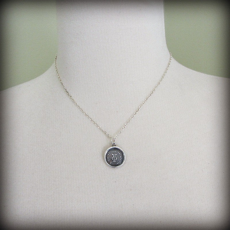 Harp French Wax Seal - Serenity & Tranquility - Don't Sweat the Small Stuff - Shannon Westmeyer Jewelry - 4