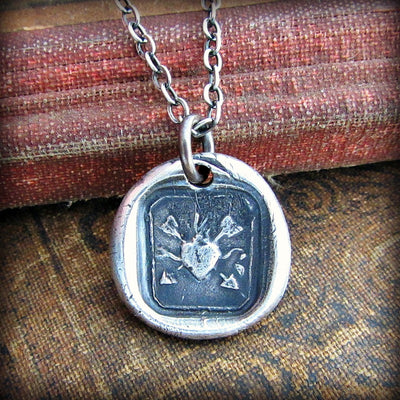 Flaming Heart and Arrows - Undying Love and Affection - Shannon Westmeyer Jewelry - 2