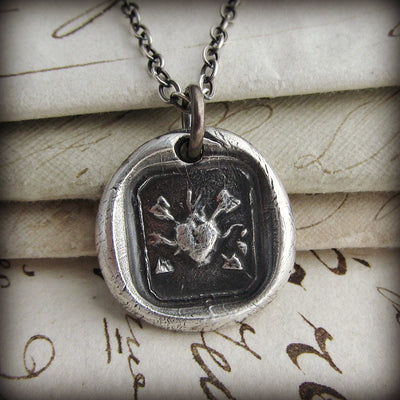 Flaming Heart and Arrows - Undying Love and Affection - Shannon Westmeyer Jewelry - 3