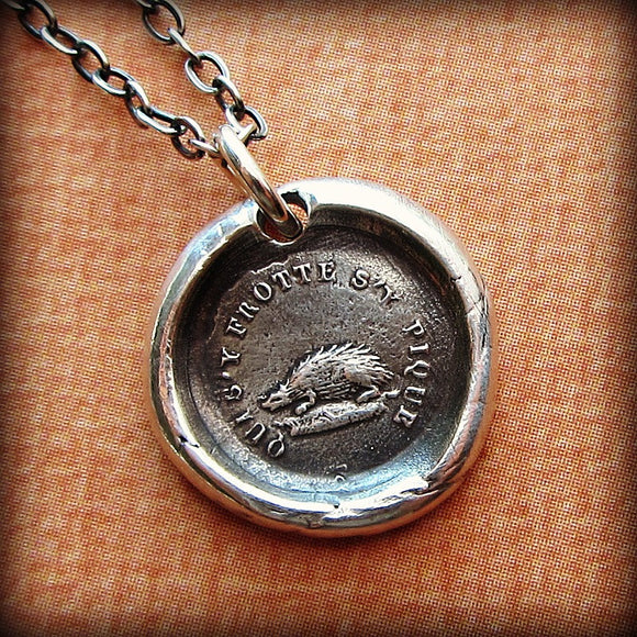 Don't Rub Me the Wrong Way - Hedgehog - Shannon Westmeyer Jewelry - 1