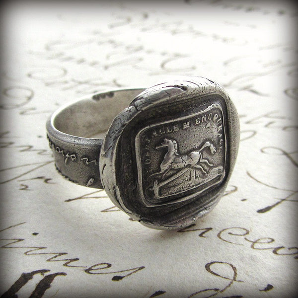 Horse Wax Seal Ring - I'm Encouraged By Obstacles - Shannon Westmeyer Jewelry - 1