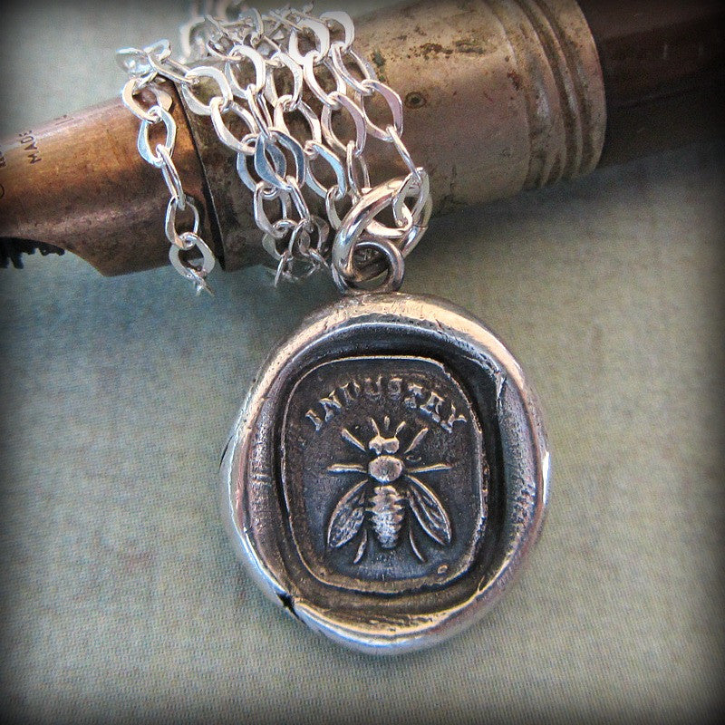 Honey Bee / Industry - the power of teamwork and collective effort - Shannon Westmeyer Jewelry - 3
