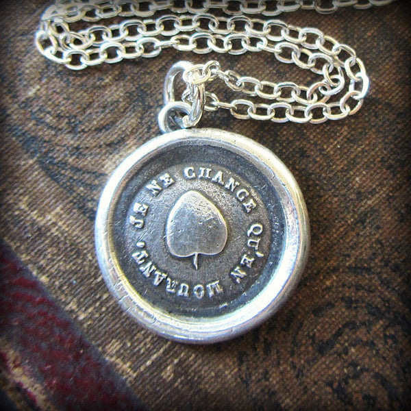 Ivy Leaf Wax Seal Pendant - Strong & Lasting Friendship - Shannon Westmeyer Jewelry - 1