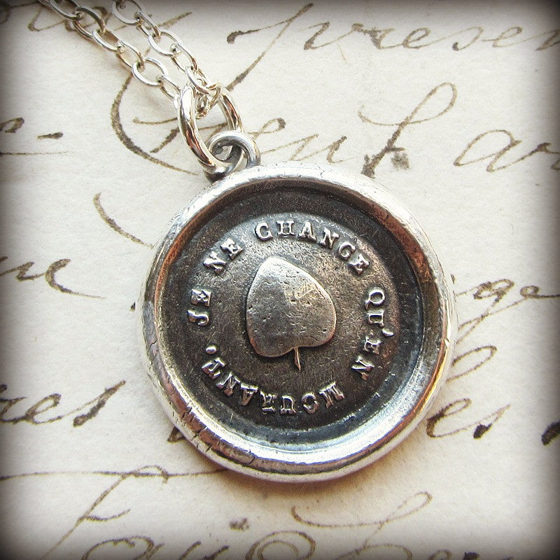 Ivy Leaf Wax Seal Pendant - Strong & Lasting Friendship - Shannon Westmeyer Jewelry - 3