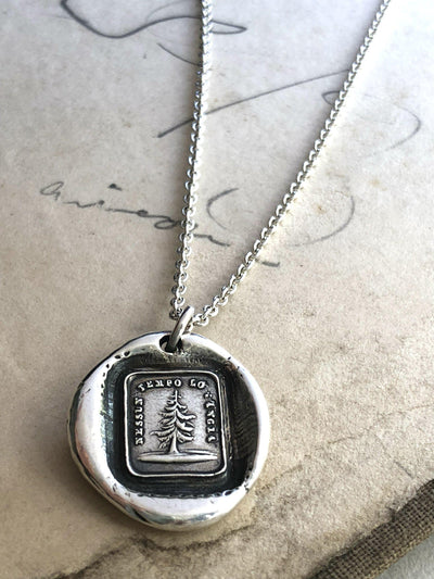 Leaning Tree Wax Seal Necklace Charm - Steadfast & Unwavering-Shannon Westmeyer Jewelry