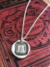 Leaning Tree Wax Seal Necklace Charm - Steadfast & Unwavering