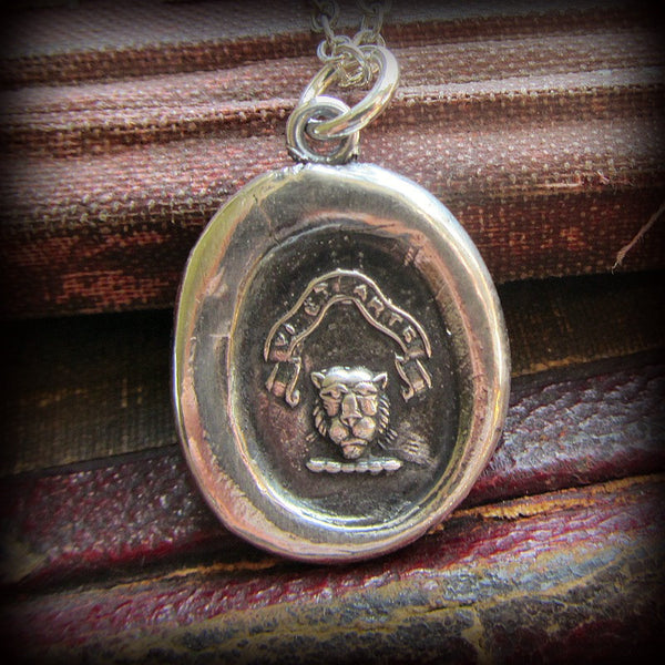 By Strength and Skill - Lion Wax Seal Crest - Strength, Justice and Deathless Courage - Shannon Westmeyer Jewelry - 1