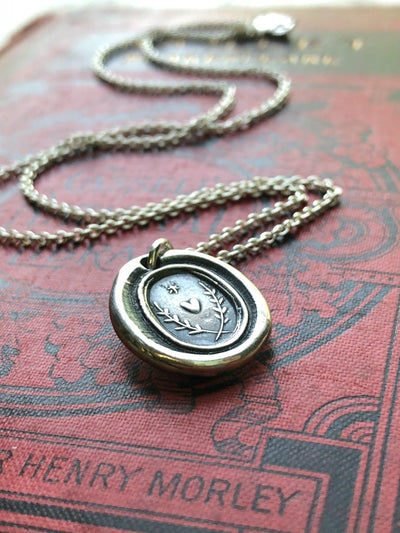 Guiding Star Wax Seal Necklace-Shannon Westmeyer Jewelry