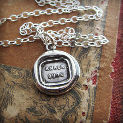 I Love You Wax Seal Necklace - Anniversary gift for Her
