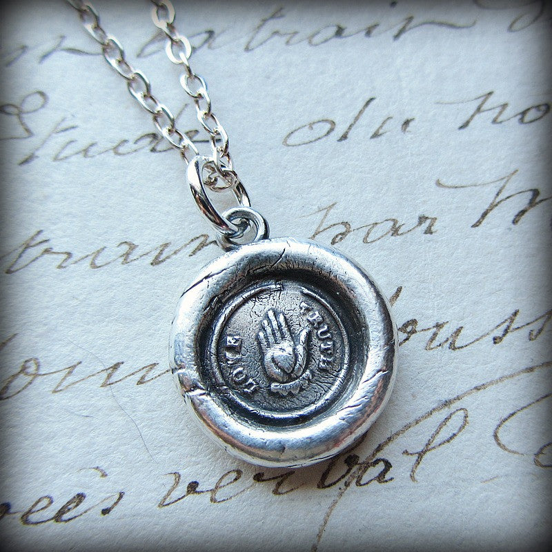 Love Truth Victorian Wax Seal Necklace - Sincerity, Friendship & Love - Shannon Westmeyer Jewelry - 4