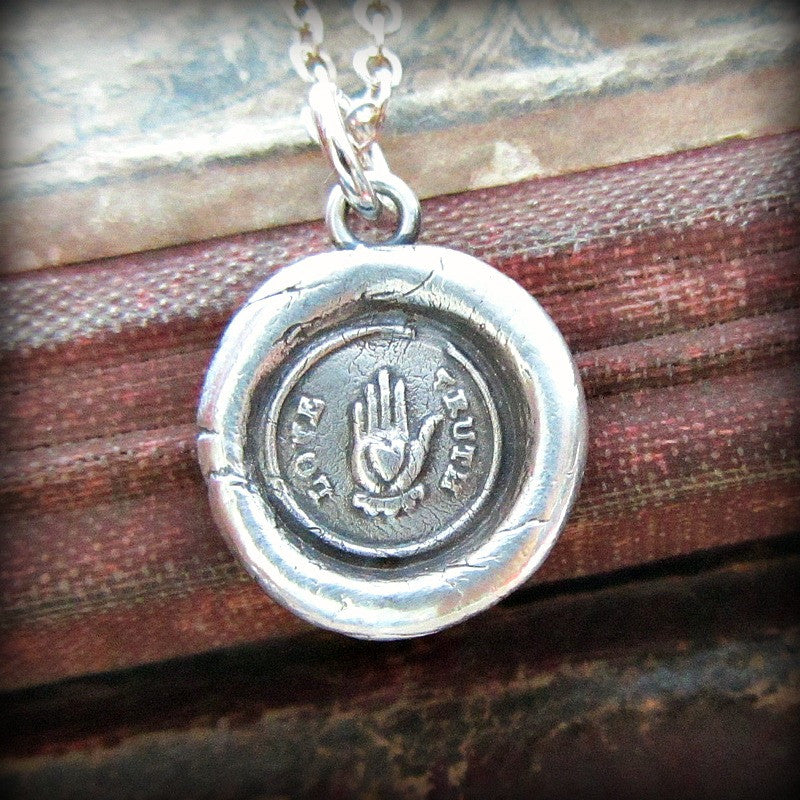 Love Truth Victorian Wax Seal Necklace