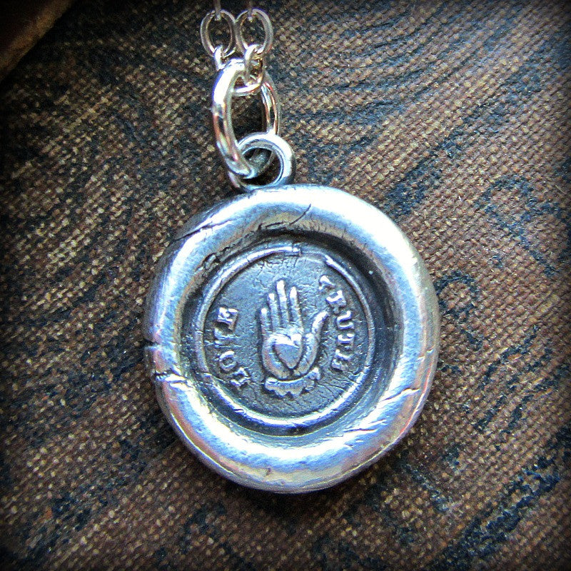 Love Truth Victorian Wax Seal Necklace - Sincerity, Friendship & Love - Shannon Westmeyer Jewelry - 3