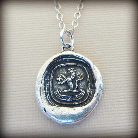 Win by Love Heraldic Crest - Love Prevails - Shannon Westmeyer Jewelry - 1