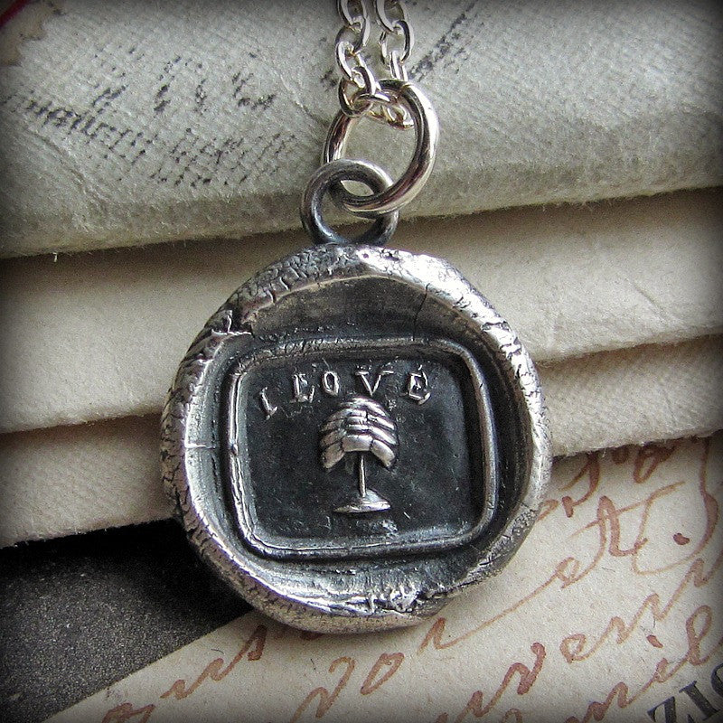 I Love You Wax Seal Necklace