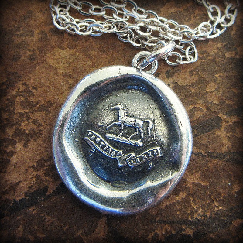Horse Wax Seal Crest Necklace - Shannon Westmeyer Jewelry - 2
