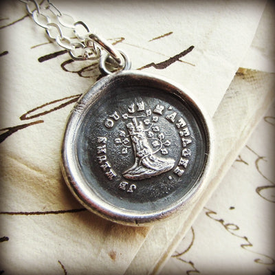 Woodbine and the Oak - Till Death Do Us Part Wax Seal Necklace - Attached Until Death - Shannon Westmeyer Jewelry - 3