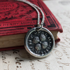 Medieval Four Leaf Clover Wax Seal Necklace
