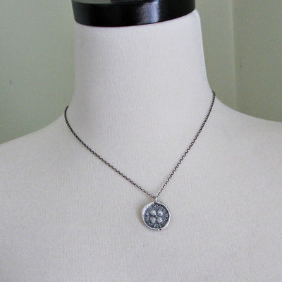 Medieval Four Leaf Clover Wax Seal Necklace - Shannon Westmeyer Jewelry - 4