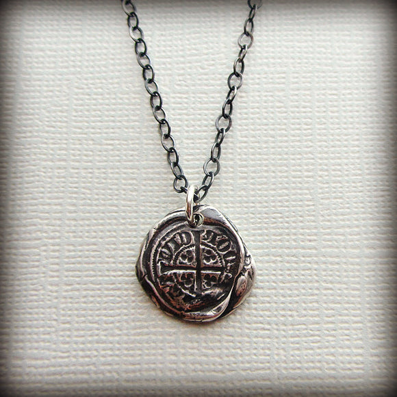 Bronze medieval coin necklace