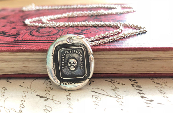 French Skull Wax Seal Necklace