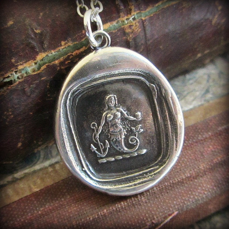 Mermaid Wax Seal Necklace Charm - Eloquence and Enchantment