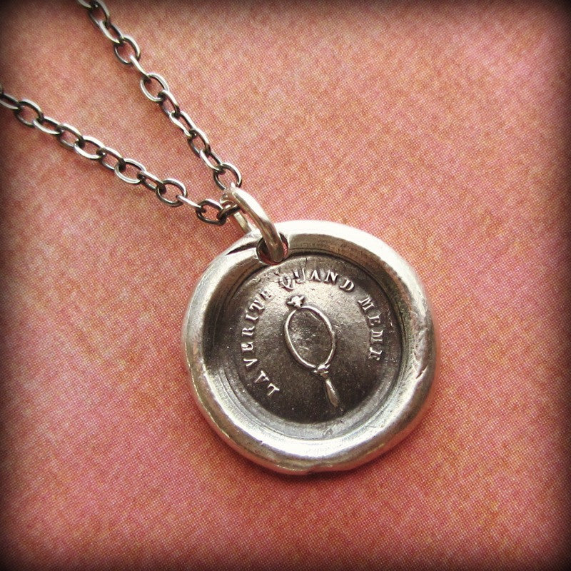 Mirror Wax Seal Necklace - Confident & Self Assured - Shannon Westmeyer Jewelry - 2