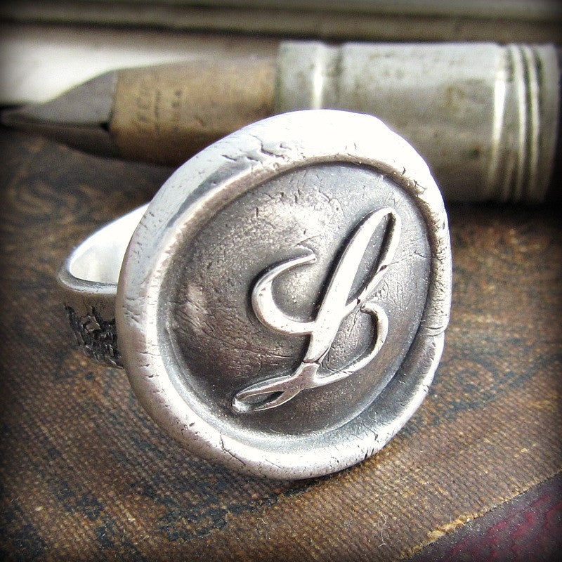 Monogram Wax Seal Ring - Shannon Westmeyer Jewelry - 4