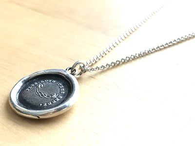 Long Distance Love Wax Seal Necklace-Shannon Westmeyer Jewelry