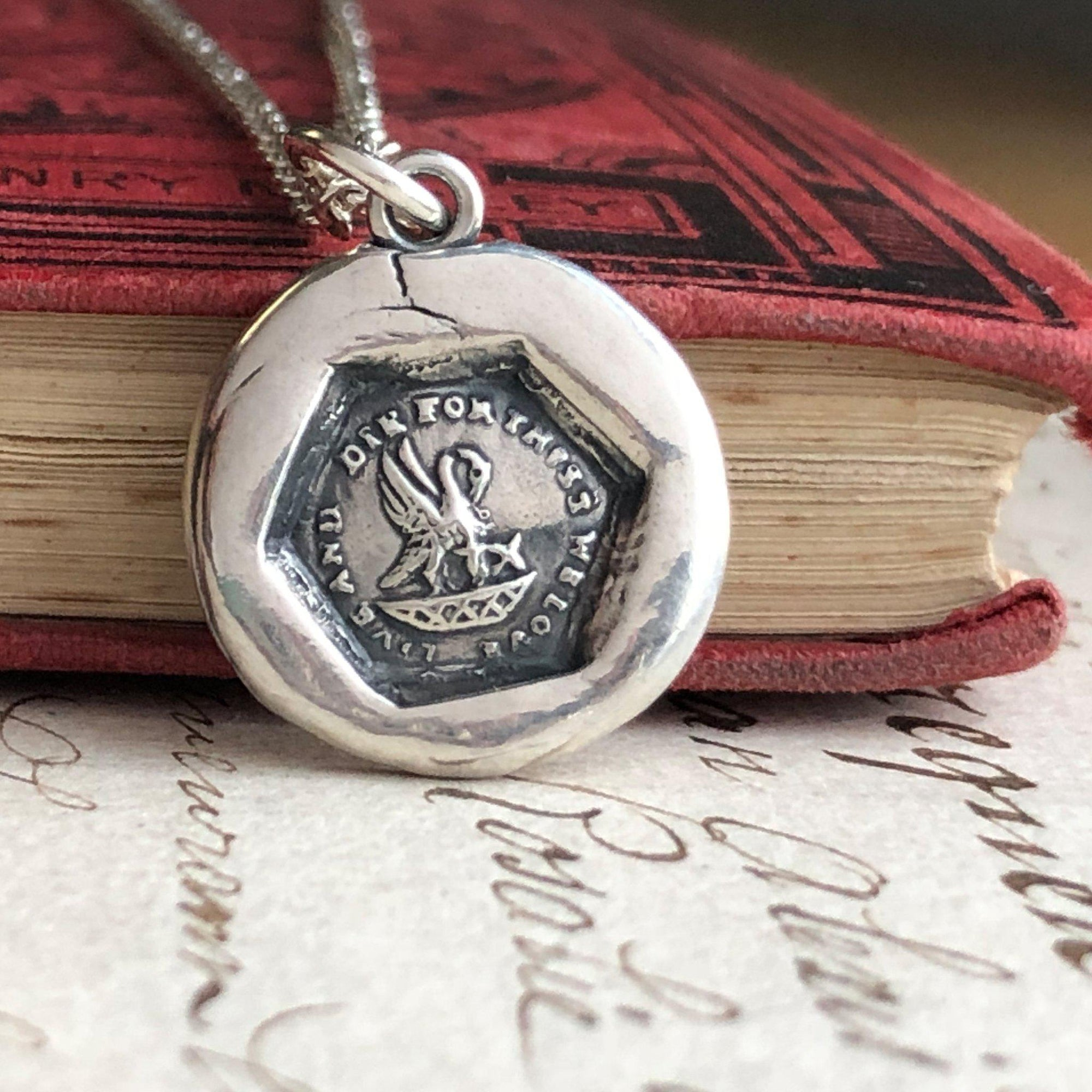 A Mothers Love - New Mommy Wax Seal Necklace