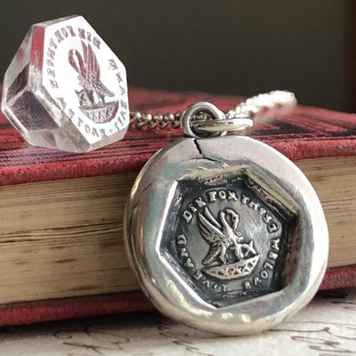 A Mothers Love - New Mommy Wax Seal Necklace-Shannon Westmeyer Jewelry