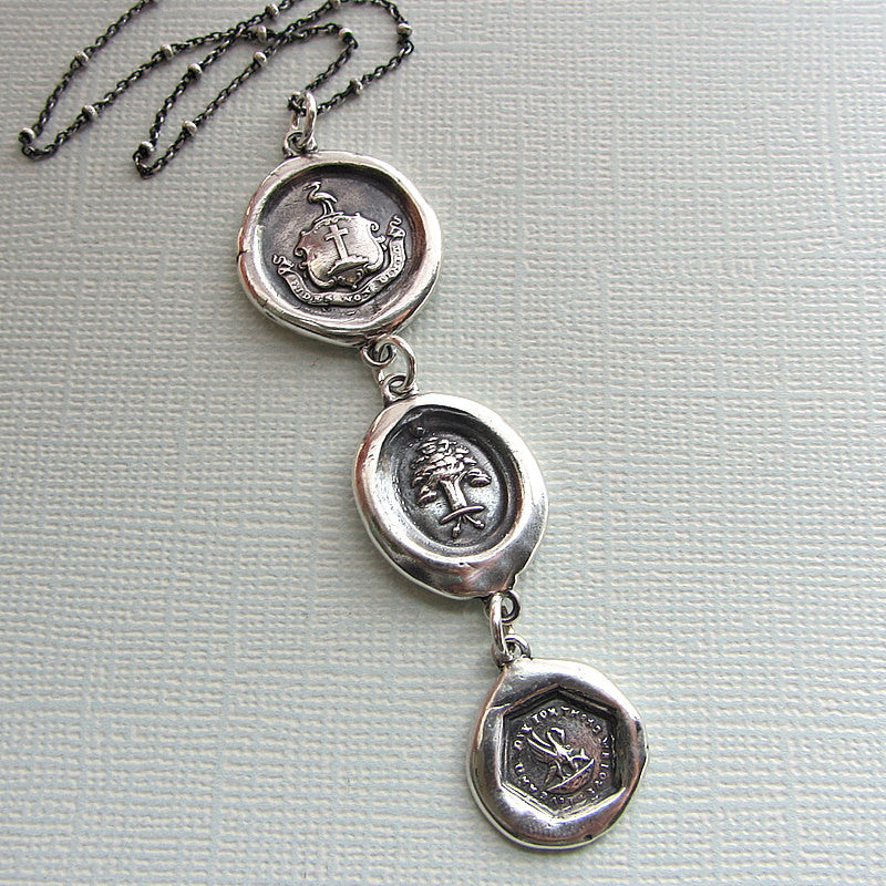 Mothers love wax seal necklace
